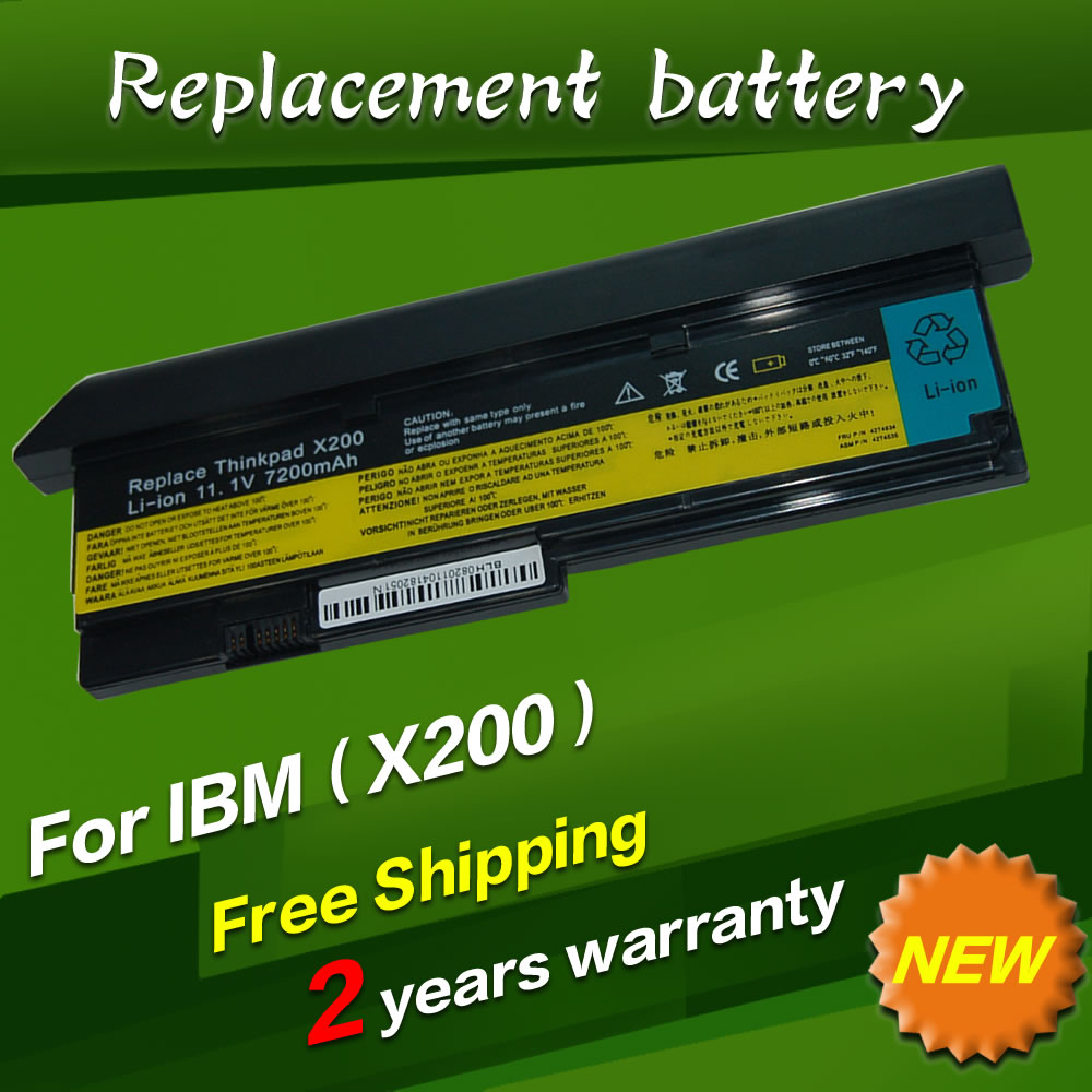 все цены на 7800mAh 9 CELL NEW Laptop battery for IBM Lenovo ThinkPad X200 X200S X201 X201S X201i 42T4650 black