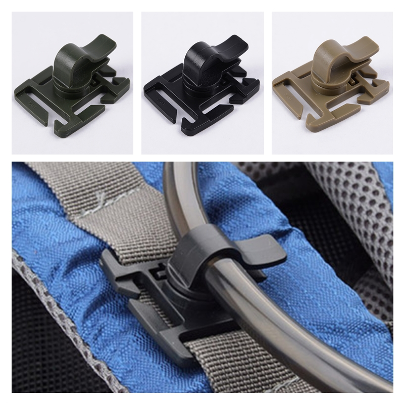 4pcs/lot Tactical Bushcraft Rotatable Molle Drinking Straw Tube Trap Hose Webbing Clip For Water Pack Bag Climb Accessory