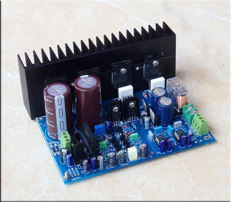 300W high power Subwoofer amplifier board DIY kits A3-BASS 2SC5200 2SA1943  powre tube