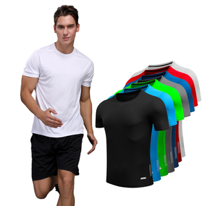 Shirt Homme Running Men Designer Quick Dry T-Shirts Running Slim Fit Tops Tees Sport Men 's Fitness Gym T Shirts Muscle Tee 2018(China)