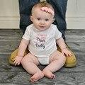 BOBORA Новорожденного Ребенка Мальчики Девочки Хлопок Письмо Печати Мужская Лето Ползунки Комбинезон Наряды