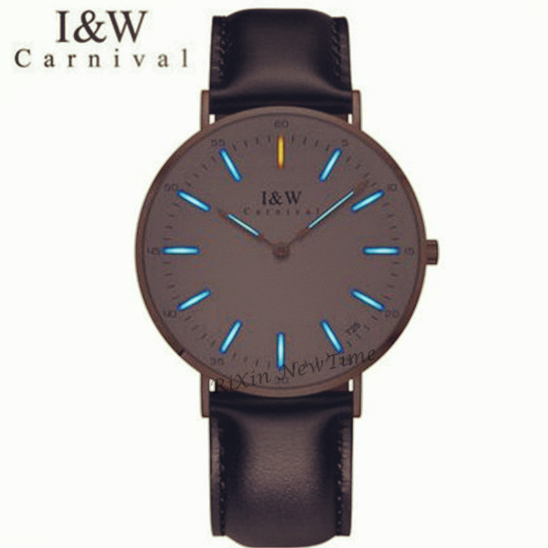 Carnival Luxury Brand T25 Tritium Luminous Quartz women Watches Fashion casual military watch men leather strap erkek kol saatiCarnival Luxury Brand T25 Tritium Luminous Quartz women Watches Fashion casual military watch men leather strap erkek kol saati