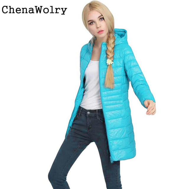 Casual Slim Fit Long Sleeve Women Winter Jacket Coat Lady Ultra Light Slim Hooded Jackets Coat Down Coat Free Shipping Dec 14