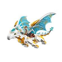 10550 эльфы долго после спасения Cction дракон с замок, домик комплектные обучающие игрушки для детей Совместимые Legoe 41179