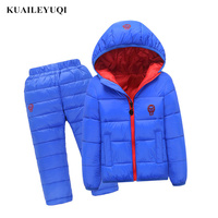 2 Pcs 1 Lot 2018 Winter Baby Girls Boys Clothes Sets Children Down Cotton Padded Coat