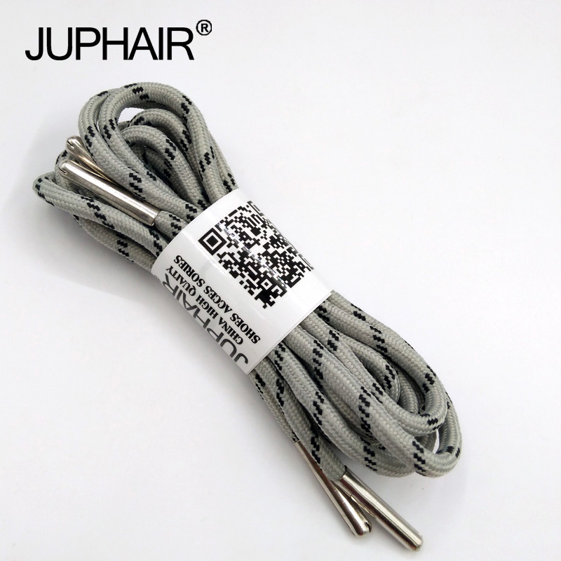 1-12 Pair Light Gray Black Outdoor Sport Casual Round Shoelaces Shoe Lace Boot Athletic Unisex Rope Athletic Metal Head Shoelace все цены