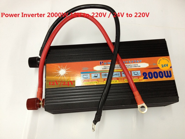2KW 2000W dc24v input to ac220v output modified wave power inverter for home use 2kw 2000w dc24v input to ac220v output modified wave power inverter for home use
