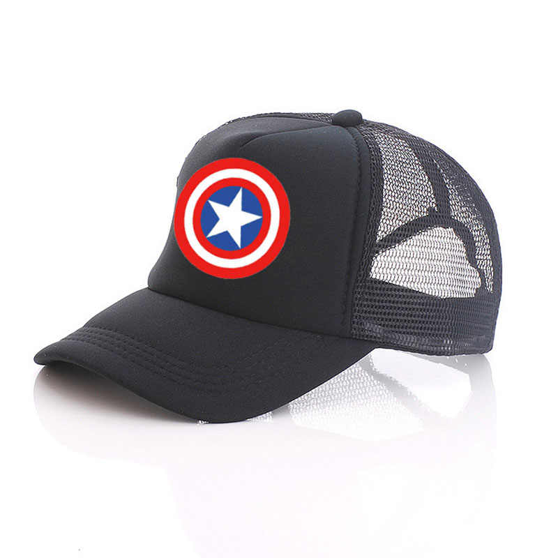 d1605cb19598f ... Captain America Shield Logo Baseball Caps Mesh Cap Free Custom Design  100% Polyester Blank Hip ...