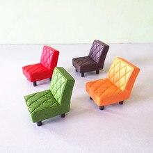 Vintage cuadros sofá silla en miniatura de hadas jardín decoración del hogar Mini de casa de muñecas Micro decoración DIY regalo envío caída