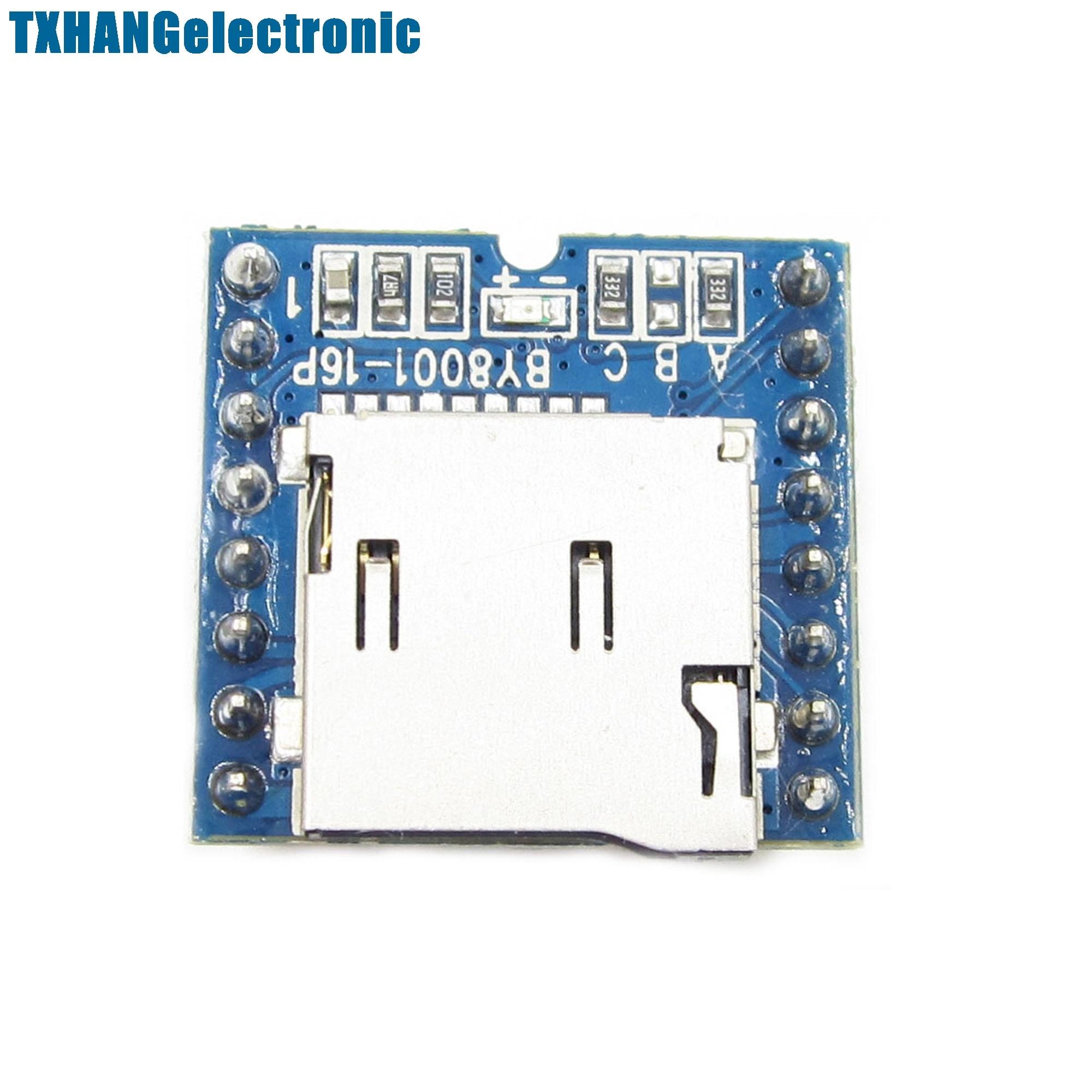 Micro SD TF U-Disk BY8001-16P MP3 Player Voice Module Board