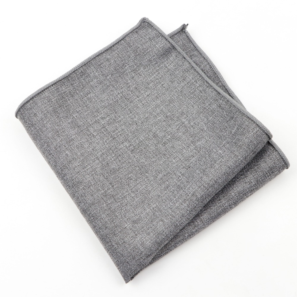Solid Color Hankerchief Scarves Vintage Cotton Hankies Men's Pocket Square Handkerchiefs