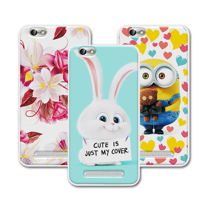 Cute Cartoon Soft Silicone TPU Case Coque Lenovo Vibe C A2020 Colorful Mermaid Printing Back Cover Funda Lenovo A2020 Case Capa