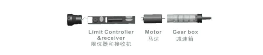 Zemismart para 20mm tubo rolo sombra do