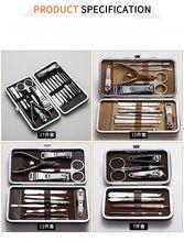 12/15/17PCS/Set Stainless Steel Nail Art Manicure Tools Set Nails Clipper Scissors Tweezer Knife Manicure Sets For Nail Manicur стоимость