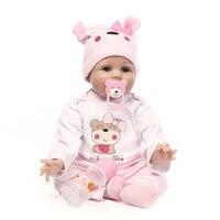 NPK 55cm Lifelike Reborn Doll Soft Silicone Reborn Baby Dolls Vinyl Toys Big Dolls For Girls Baby Dolls With Blouse Clot