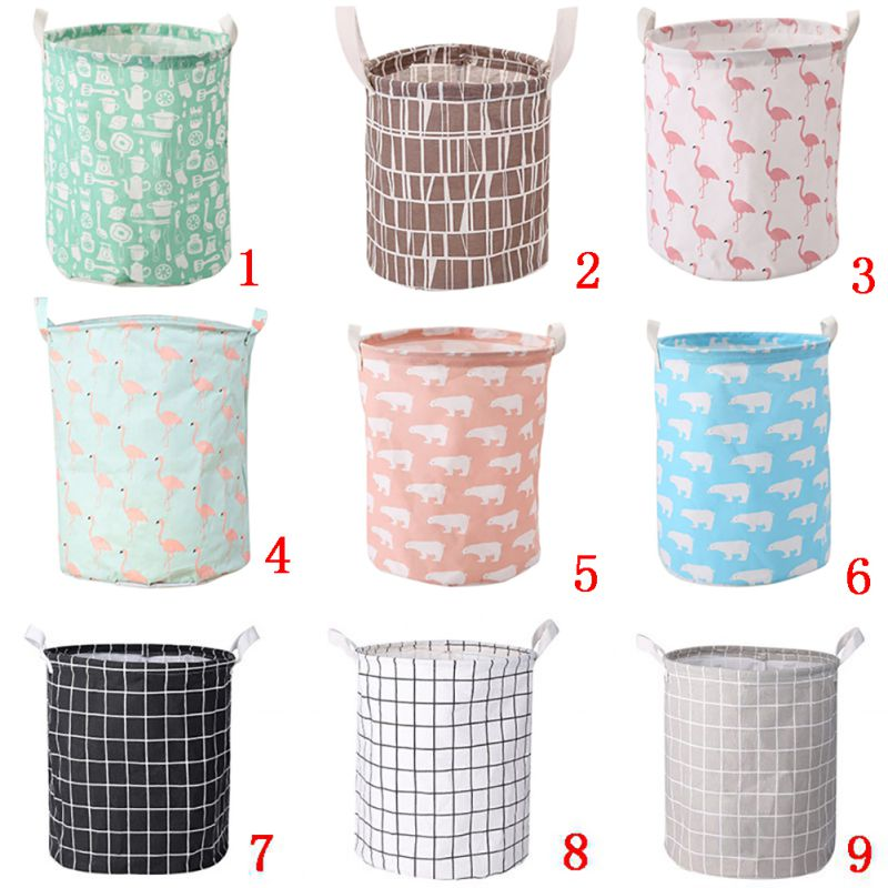 Cute Animals Pattern Laundry Baskets Large Size Laundry Baskets Home Storage Supplies Foldable Cloth Storage Basket for Bathroom