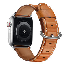 Men Watch Bands Strap Watchband Leather, VIOTOO Leather Band for Apple 4 44mm 40mm