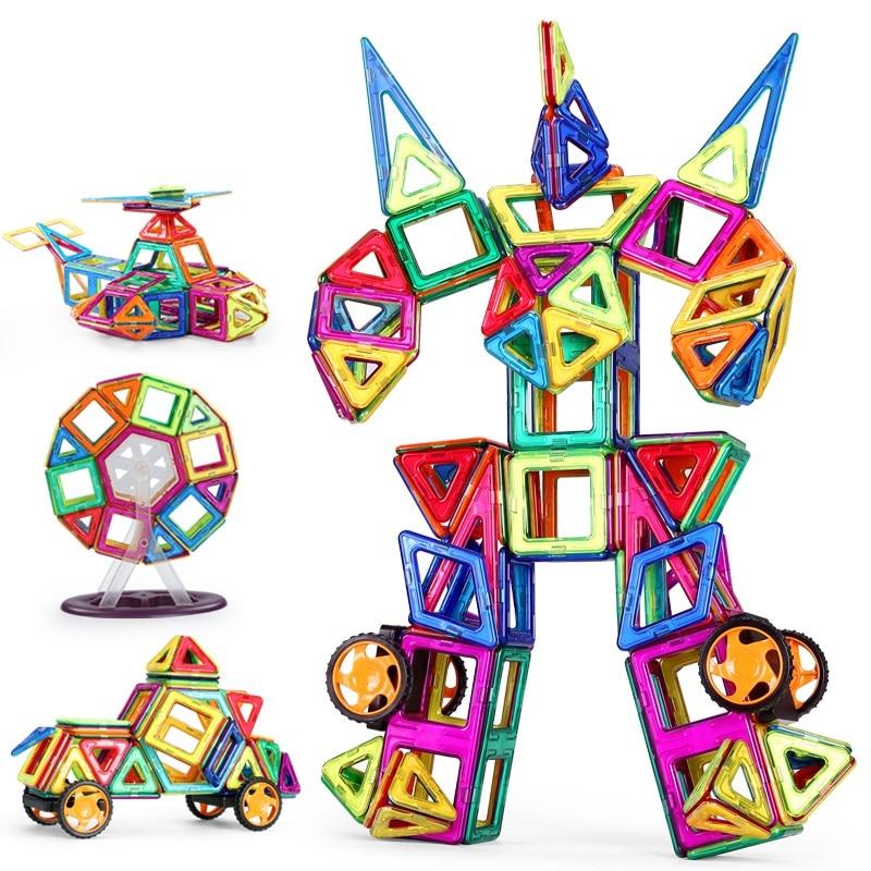 Toy Bricks 218PCS Magnetic Designer Building Blocks Model & Building Toys Brick Enlighten Bricks Magnetic Toys for Children exerpeutic 1000 magnetic hig capacity recumbent exercise bike for seniors