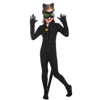 New Black Cat Costume Cosplay For Girls Children Animals Costume Halloween Costume For Kids Carnival Party Suit