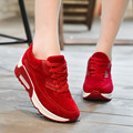 Air Cushion Inside Height Increasing Women Shoes 2016 Spring Summer Casual Shoes Low Top Lace-up Mesh Breathable Jogging