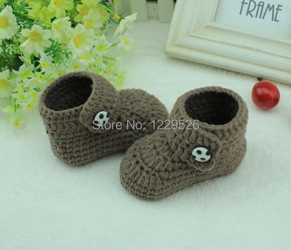 NAUJAS Rankų darbo rudos nėrimo kūdikių kojinės / minkštas kūdikių batai 0-12 mėnesių kūdikiui