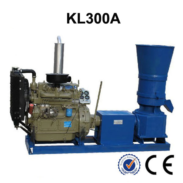 Diesel Engine KL300A 55HP Pellet Mill Animal Feed Wood Pellet Press Machine