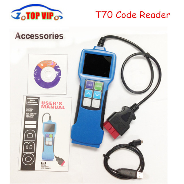 Vehicle Code Reader >> Us 56 99 5 Off New Arrival T70 Universal Fault Code Scanner Obdii Eobd Jobd Software Upgradeable Vehicle Code Reader Auto Scan Tool T70 In Code