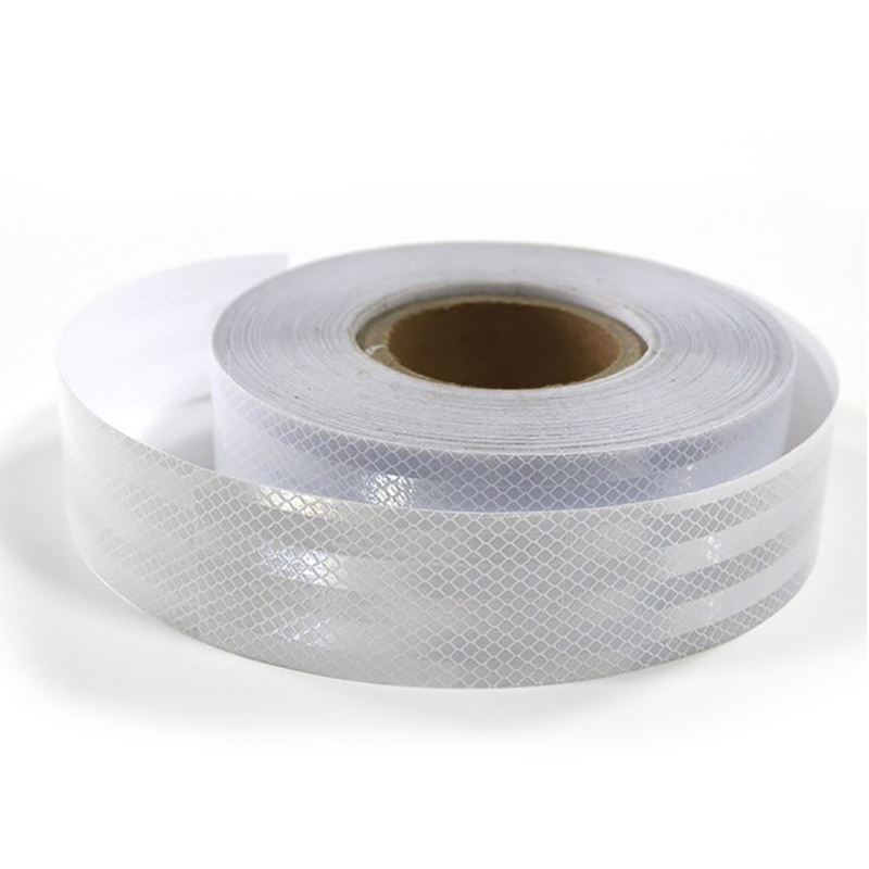 45Mx5Cm White/Silver Reflective Warning Tape Adhesive Car Truck Conspicuity Tape Car Accessories