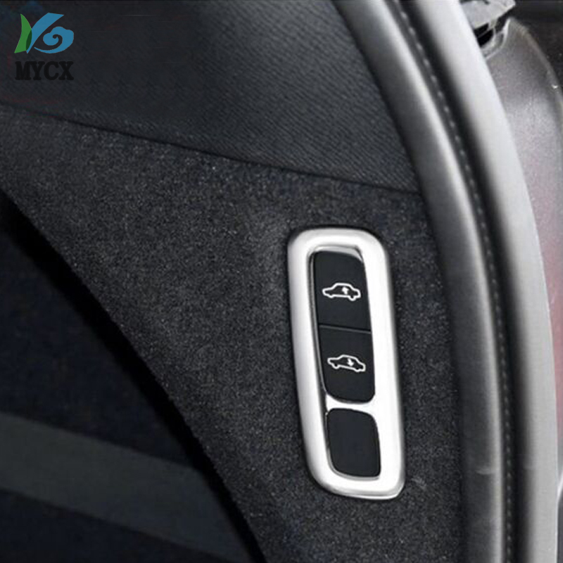 For <font><b>Volvo</b></font> XC90 <font><b>XC</b></font> <font><b>90</b></font> 2015 2016 <font><b>2017</b></font> 2018 ABS Matte Interior Car Body Lift Adjustment Button Cover Trim 1pcs Car Styling image