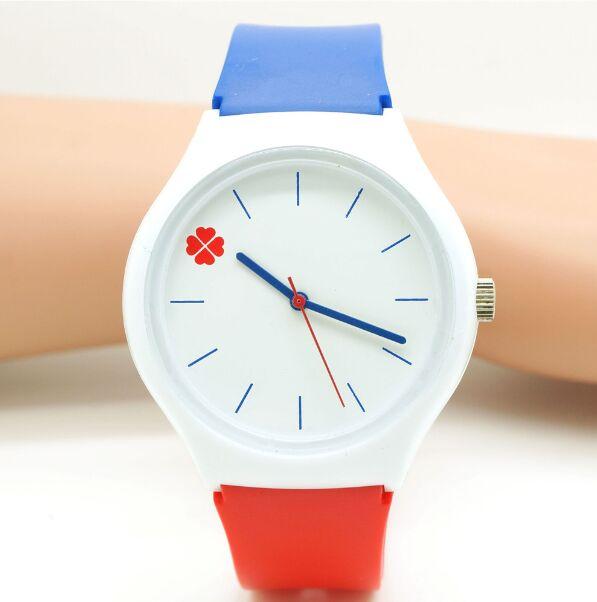 new Willis fashion watch watch Four Leaf Clover Design Water Resistant with Silicone kids Watch cartoon Wristwatch Gift Relogio