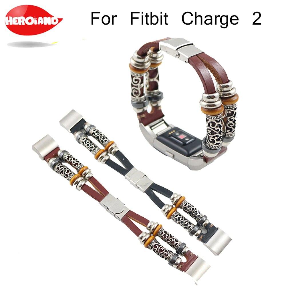 Hohe Qualität Ersatz Leder Armband Band handgelenk Strap band Armband Für Fitbit Gebühr 2 Uhrenarmbänder Correas de reloj bandje