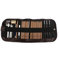 29pcs Sketch Pencil Set Charcoal Pencil Eraser Cutter Kit With Bag For Drawing Art Craft School
