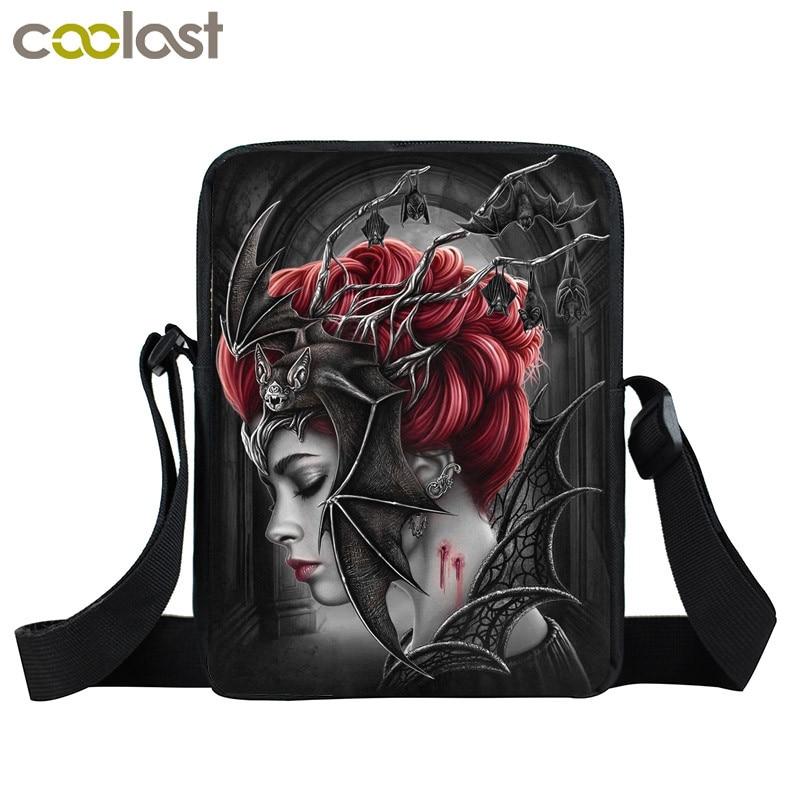Dark Gothic Vampire Beauty Mini Messenger Bag Women Handbag Children School Bags Girls Small Shoulder Bag Crossbody Bags Bookbag vampire dance