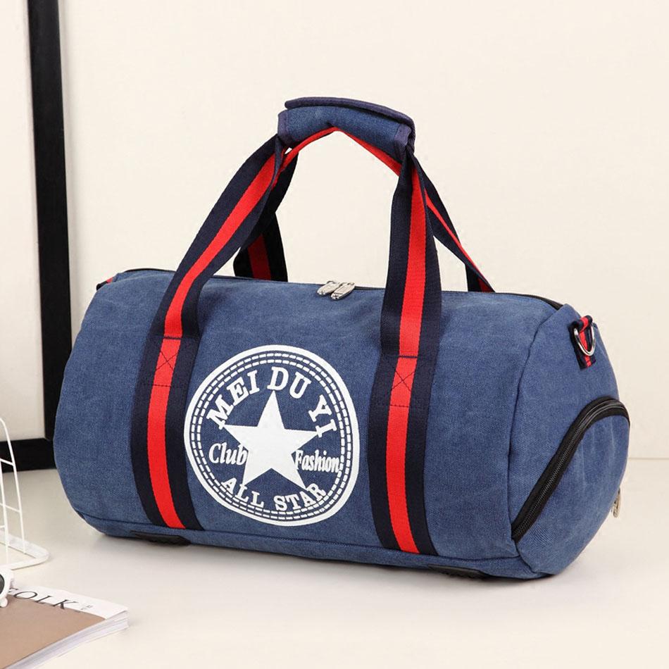 Gym Bag Briefcase: Durable Multifunction Handbag Men Canvas Sport Bag