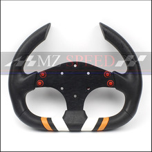 310mm Racing Steering Wheel PU flat 4 buttons game steering wheel