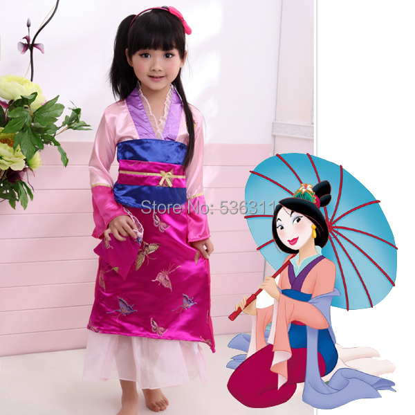 Free shipping Mulan Costume Custom For Children girls Mulan Dress Cosplay Costume for party 2015  sc 1 st  AliExpress.com & Free shipping Mulan Costume Custom For Children girls Mulan Dress ...