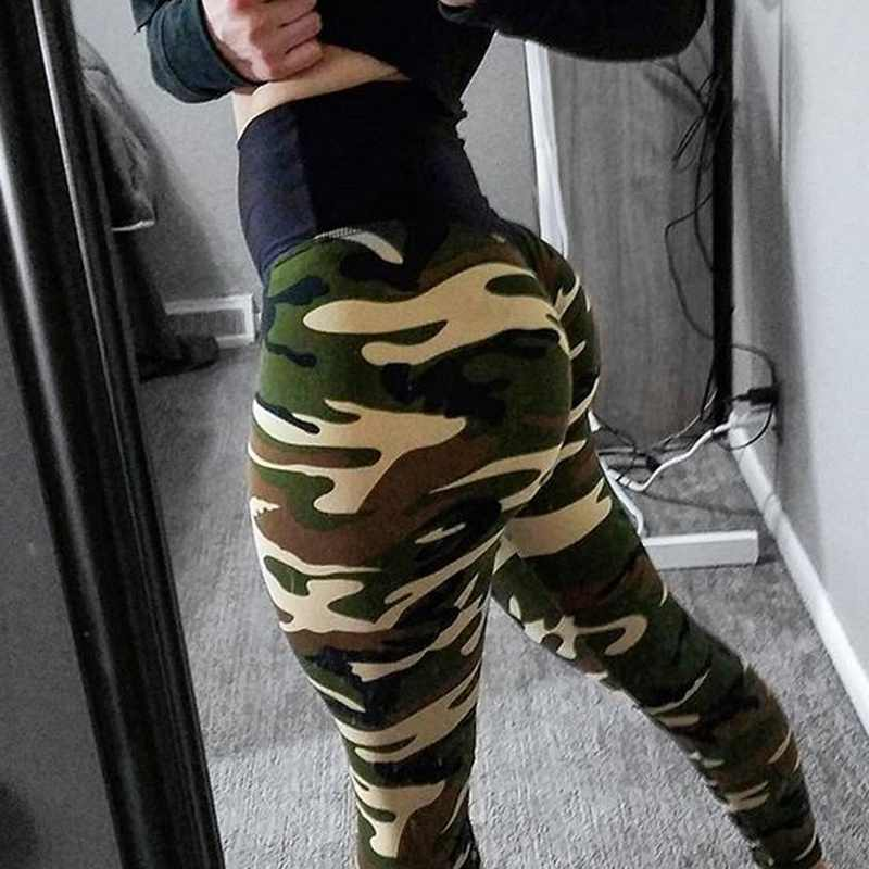 5c8c6da05afa97 ... 2018 Sexy women Hot Yoga Pants Camouflage Sport leggings Push Up Printed  Seamless pants High Waist ...