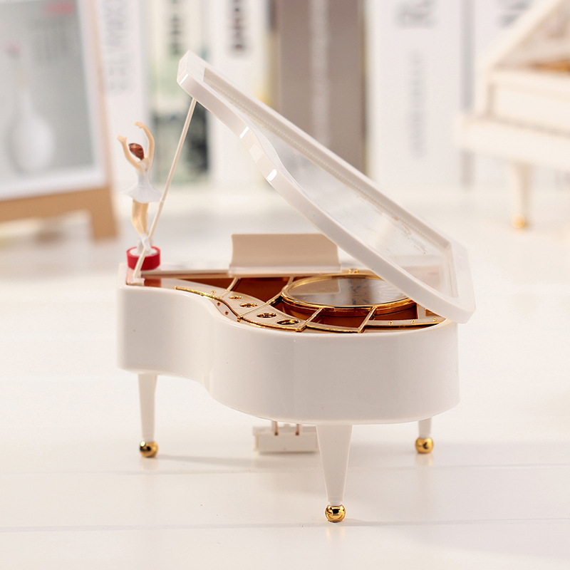 High Quality DIY Hand Cranked Music Box Movement Set With Ballet Girl Piano Musical boxes carrossel Ballerina Music Box Set Gift