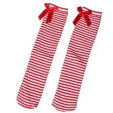 Lovely Girls Kids Toddler Bow Knee High Socks Colours Silk Bow Baby Girl Socks Striped Princess Socks 1 to 8 Years
