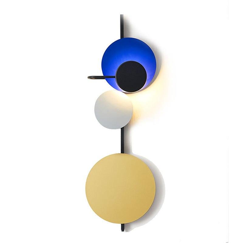 Norte da Europa Pós Escadas de Design Retro Moderno Levou Luz de Parede de Luxo Café Sala de estar Quarto Cabeceira Led Home Da Parede Estrela lâmpada - 5