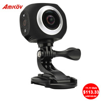 Hot AMK360S 1 Dual Lens 360 360 Degree 3008 1504 Panorama Camera 220 Fish Eye 960P