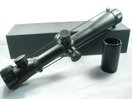 ФОТО Free Shipping 3.5-10x40 E Red Illuminated Military Rangefinder Rifle Scope Airsoft Long Range Sight Scope For Hunting Rifle Gun