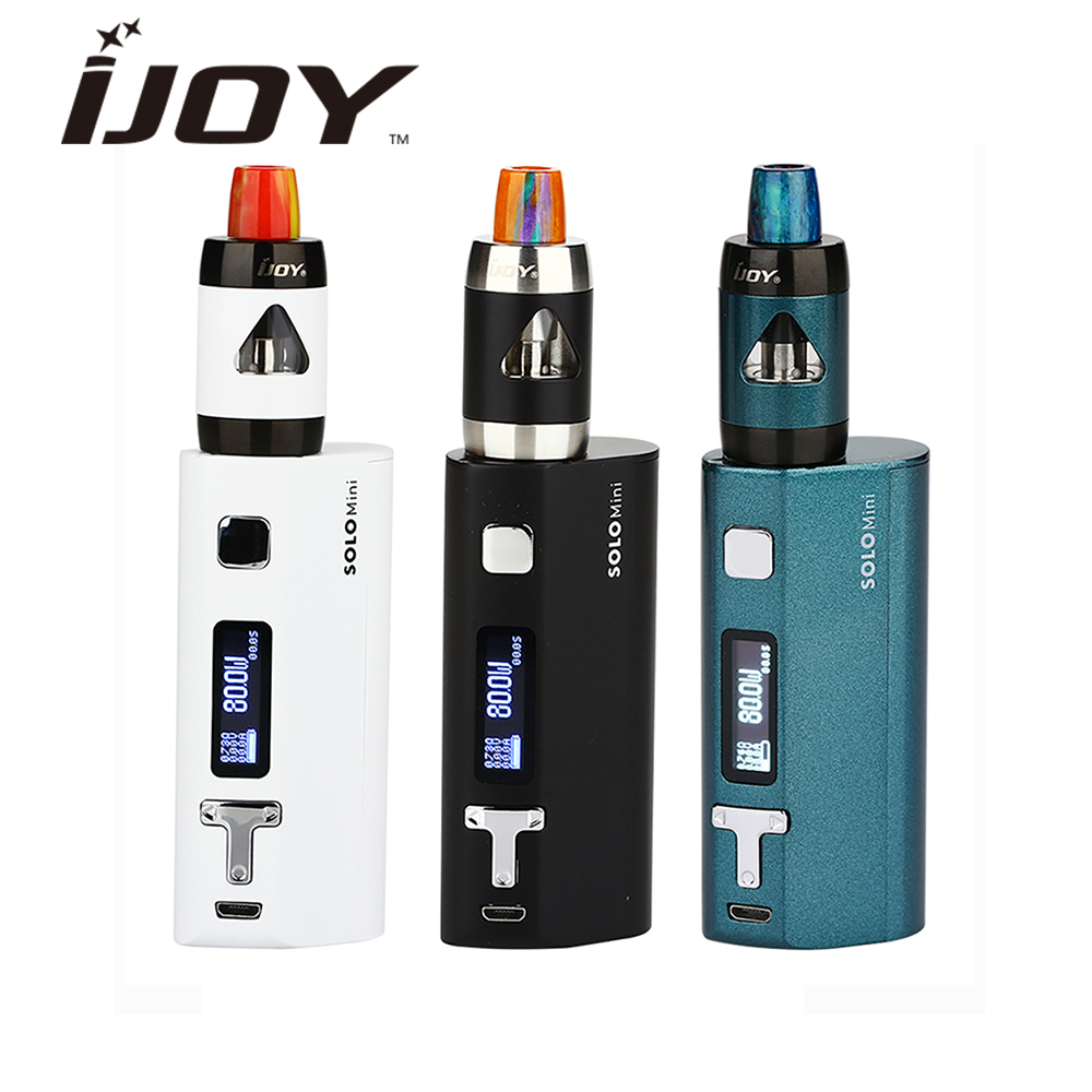Original  IJOY Solo ELF E-cig Starter Kit MINI 80W MOD with 2ml ELF Tank 0.7ohm0.5ohm Coil Top Filling Without 18650 Battery pv2 rda with top filling design