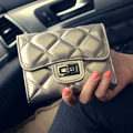 Pu Short Diamond Lattice Wallet Women Casual Plaid Hasp Zipper Purse Small Fashion Clutches Bag Small Female Money Clip