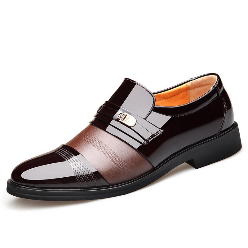 De Boda Hombres Los Vestir brown Moda Negocios Hombres Estilo Exquisita Casuales Charol Cuero Zapatos Americano Europeo Y Black rq1rFwp8