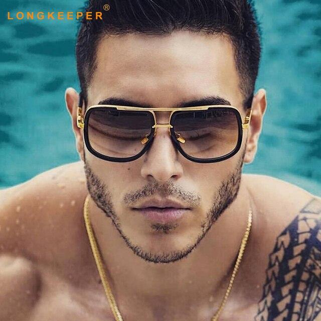 67e975448281 Fashion Oversize Square Sunglasses Men Women Luxury Brand Designer Sun  Glasses Male Driving Superstar Female Shades LongKeeper