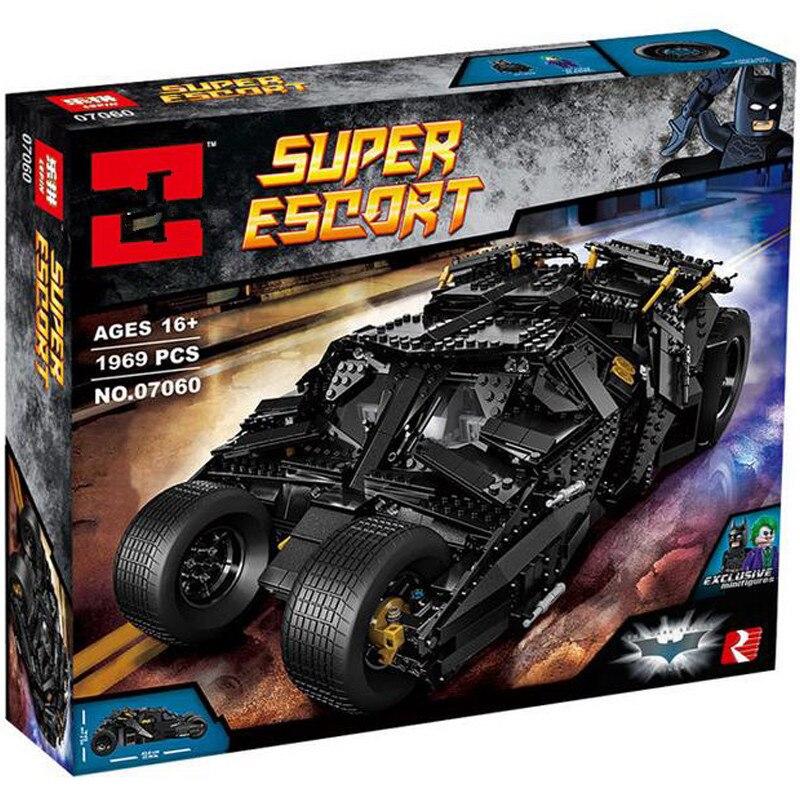 the 07060 Super Hero 76023 Tumbler Batman Armored Chariot Set Movie Series Building Block Bricks Kids