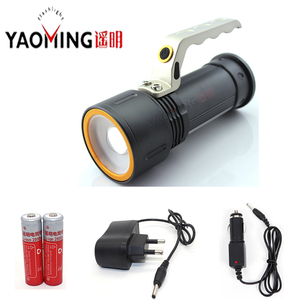 Powerful Led Flashlight Led 10W Zoomable Waterproof Rechargeable Searchlight With 18650 Battery and Charger Protable Linternas