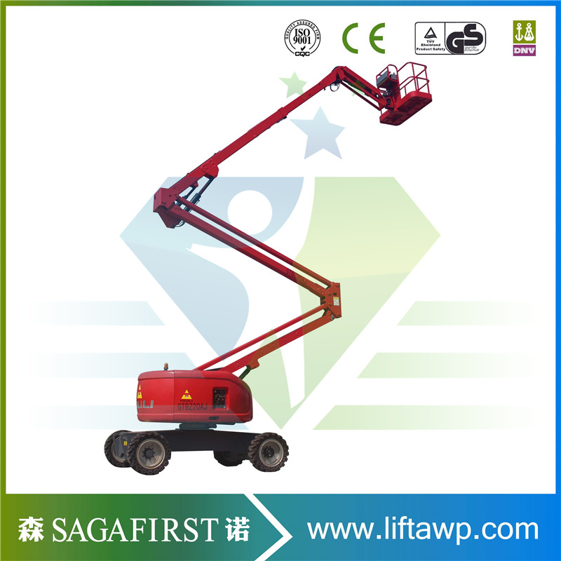 Eurppe Standard Self Drivable Articulating Boom Lift Man Aerial Platform