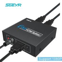 SGEYR 2 Port HDMI Splitter 1 3b hdmi splitter 1x2 Splitter HDMI 1 In 2 Out